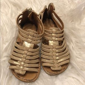 Girls gold sandals